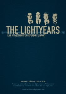 Promotional poster for The Lightyears' Book & Album Preview.